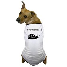 Snail Silhouette (Custom) Dog T-Shirt