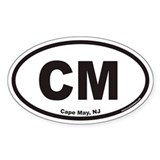 Cape May CM Euro Oval Decal