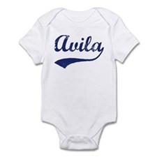 Avila - vintage (blue) Infant Bodysuit