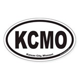Kansas City Missouri KCMO Euro Oval Decal
