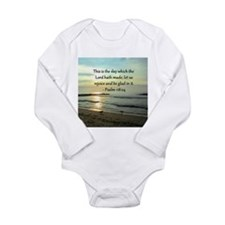 PSALM 118:14 Long Sleeve Infant Bodysuit