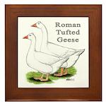 Roman Tufted Geese Framed Tile