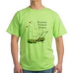 Roman Tufted Geese Green T-Shirt