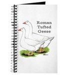 Roman Tufted Geese Journal