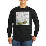 Roman Tufted Geese Long Sleeve Dark T-Shirt