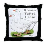 Roman Tufted Geese Throw Pillow