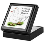 Roman Tufted Geese Keepsake Box