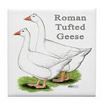 Roman Tufted Geese Tile Coaster