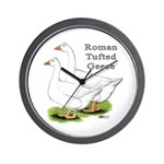 Roman Tufted Geese Wall Clock
