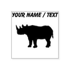 Rhinoceros Silhouette (Custom) Sticker