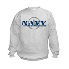 Navy - I Support My Granddaughter Sweatshirt