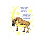 Great Dane Brindle Twinkle Postcards (Package of 8