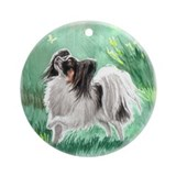 Papillon Ornament (Round)