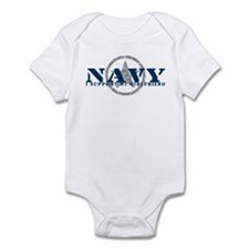 Navy - I Support My Girlfriend Infant Bodysuit