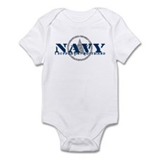 Navy - I Support My Boyfriend Infant Bodysuit