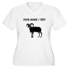 Ram Silhouette (Custom) Plus Size T-Shirt