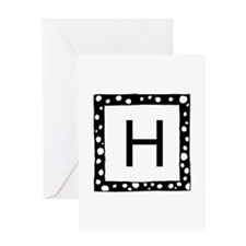 Monogrammed Greeting Cards With Cute Frame