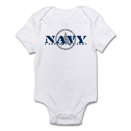 Navy - I Support My Aunt Infant Bodysuit