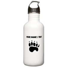 Bear Paw Silhouette (Custom) Water Bottle