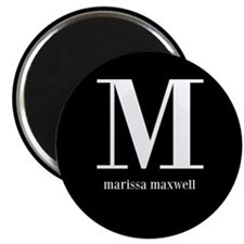 Black and White Monogram Name Magnet
