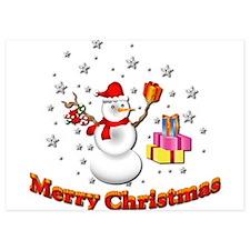 Christmas Snowman Invitations