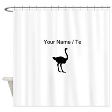 Ostrich Silhouette (Custom) Shower Curtain