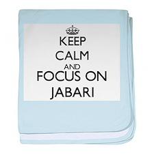 Keep Calm and Focus on Jabari baby blanket