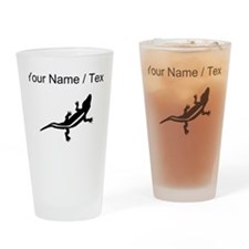 Lizard Silhouette (Custom) Drinking Glass