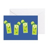 Row of Mojitos Greeting Cards (Pk of 10)