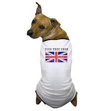 Custom Distressed United Kingdom Flag Dog T-Shirt