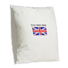 Custom Distressed United Kingdom Flag Burlap Throw