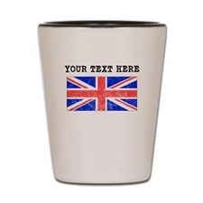 Custom Distressed United Kingdom Flag Shot Glass