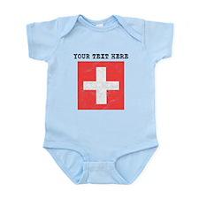 Custom Distressed Switzerland Flag Body Suit