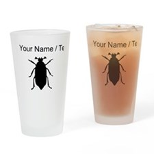 Beetle Silhouette (Custom) Drinking Glass