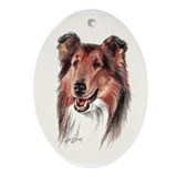 Sable Collie Oval Ornament