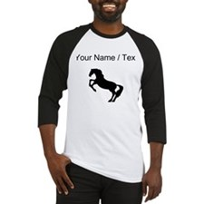 Horse On Hind Legs Silhouette (Custom) Baseball Je