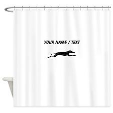 Greyhound Silhouette (Custom) Shower Curtain