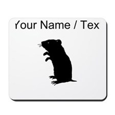 Gerbil Silhouette (Custom) Mousepad