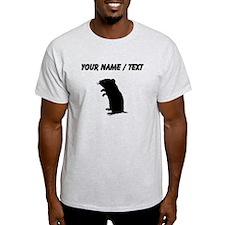 Gerbil Silhouette (Custom) T-Shirt