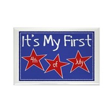 1st 4th of July Rectangle Magnet (10 pack)