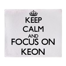 Keep Calm and Focus on Keon Throw Blanket