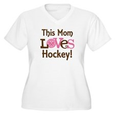 Mom Loves Hockey T-Shirt
