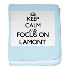 Keep Calm and Focus on Lamont baby blanket