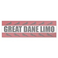Great Dane Limo Bumper Bumper Sticker