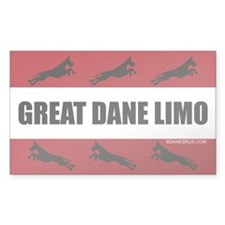 Great Dane Limo Sticker (Rect.)