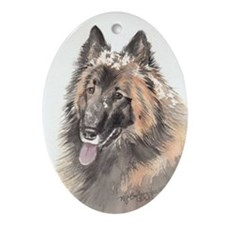 Belgian Terverun Oval Ornament