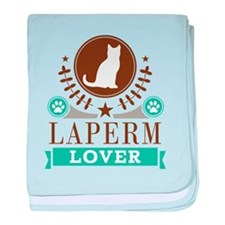 Laperm Cat Lover baby blanket