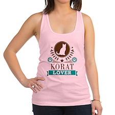 Korat Cat Lover Racerback Tank Top