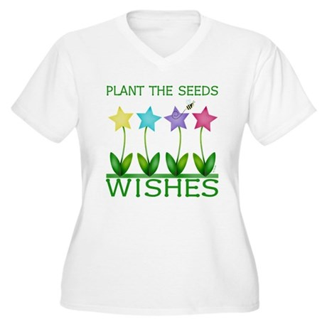 Wishes Women's Plus Size V-Neck T-Shirt