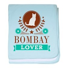 Bombay Cat Lover baby blanket